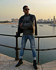Omar Khaled Hussein model. Photoshoot of model Omar Khaled Hussein demonstrating Fashion Modeling.Fashion Modeling Photo #217026