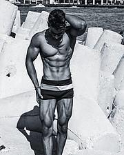 Omar Khaled Hussein model. Photoshoot of model Omar Khaled Hussein demonstrating Body Modeling.Body Modeling Photo #217127