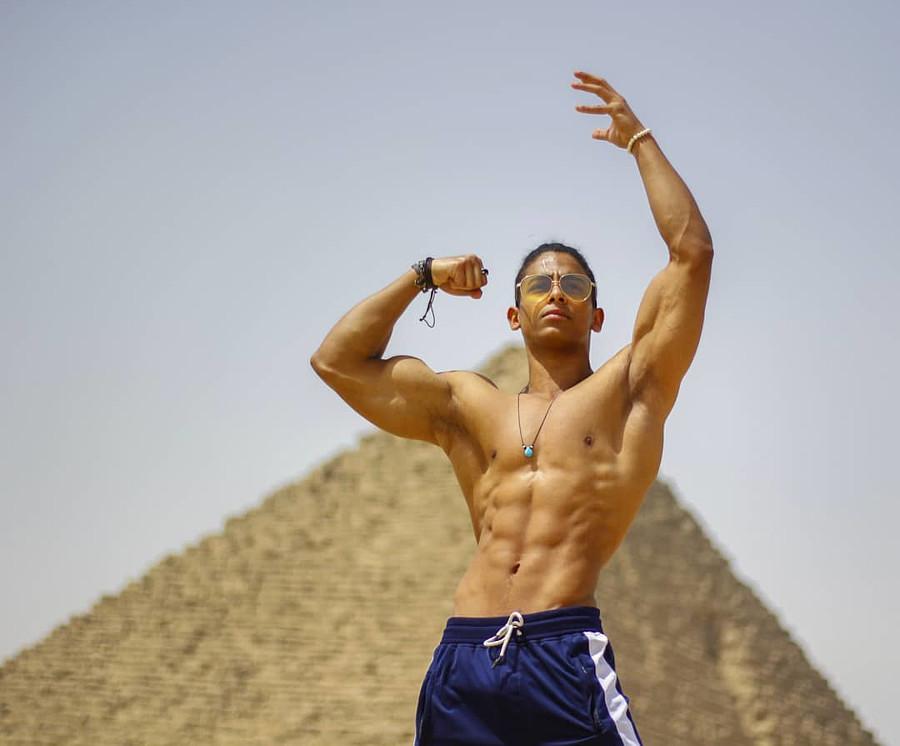 Omar Khaled Hussein model. Photoshoot of model Omar Khaled Hussein demonstrating Body Modeling.Body Modeling Photo #217138
