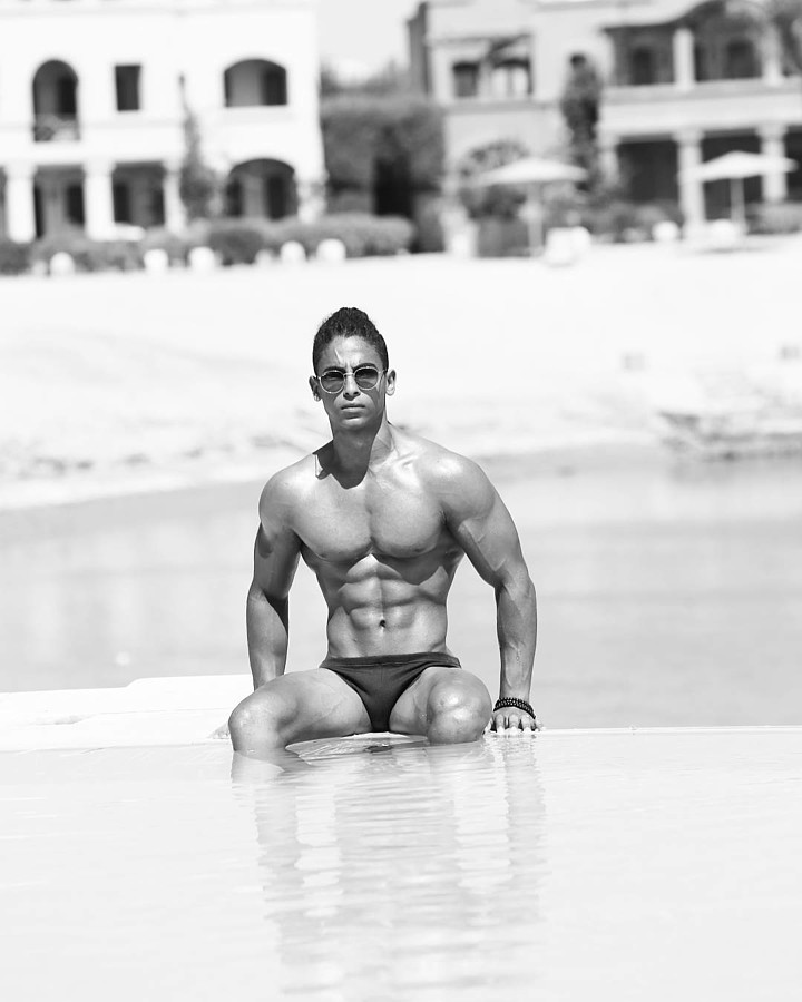 Omar Khaled Hussein model. Photoshoot of model Omar Khaled Hussein demonstrating Body Modeling.Body Modeling Photo #217142