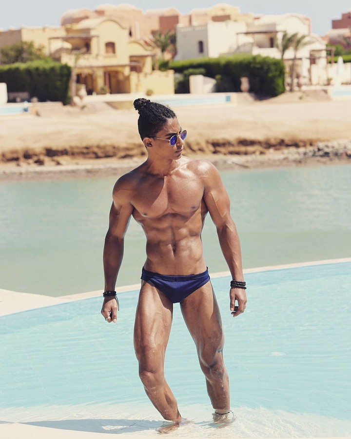 Omar Khaled Hussein model. Photoshoot of model Omar Khaled Hussein demonstrating Body Modeling.Body Modeling Photo #217143