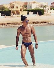 Omar Khaled Hussein model. Photoshoot of model Omar Khaled Hussein demonstrating Body Modeling.Body Modeling Photo #217147