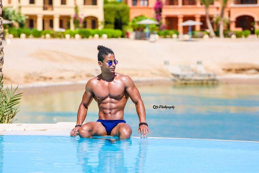 Omar Khaled Hussein model. Photoshoot of model Omar Khaled Hussein demonstrating Body Modeling.Body Modeling Photo #217148
