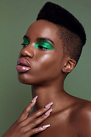 Onyeka Deborah model. Photoshoot of model Onyeka Deborah demonstrating Face Modeling.Face Modeling Photo #203475