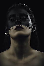 Panagiota Vasilopoulou makeup artist (Παναγιώτα Βασιλοπούλου μακιγιέρ). Work by makeup artist Panagiota Vasilopoulou demonstrating Creative Makeup.Creative Makeup Photo #230626