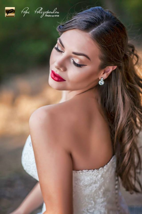 Popi Polizopoulou makeup artist (Πόπη Πολυζοπούλου μακιγιέρ). Work by makeup artist Popi Polizopoulou demonstrating Bridal Makeup.Bridal Makeup Photo #113289