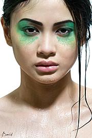 Queenie Ann model. Queenie Ann demonstrating Face Modeling, in a photoshoot by Brandon Woods.Photographer: Brandon WoodsFace Modeling Photo #95558