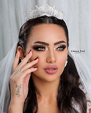 Rawan Sharaf model. Photoshoot of model Rawan Sharaf demonstrating Face Modeling.Face Modeling Photo #208079