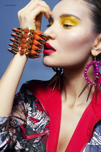Renessans Moscow model management. casting by modeling agency Renessans Moscow.Earrings,Bracelet Photo #58452