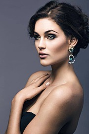 Rolene Strauss model. Photoshoot of model Rolene Strauss demonstrating Face Modeling.Face Modeling Photo #117824