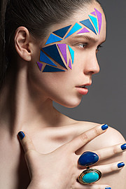 Ross Mccallum makeup artist & hair stylist. Work by makeup artist Ross Mccallum demonstrating Creative Makeup in a photoshoot of Iris Ferwerda.Photography : Thomas McInnisModel: Iris FerwerdaMakeup, Hair Styling: Ross MccallumCreative Makeup Photo