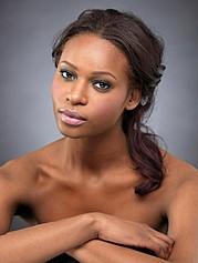 Sahirah Abdur model. Photoshoot of model Sahirah Abdur demonstrating Face Modeling.Face Modeling Photo #107633