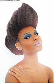 Sahirah Abdur model. Photoshoot of model Sahirah Abdur demonstrating Face Modeling.Face Modeling Photo #107634