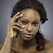 Sahirah Abdur model. Photoshoot of model Sahirah Abdur demonstrating Face Modeling.Face Modeling Photo #107637