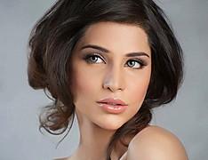 Sana Sarfaraz model. Photoshoot of model Sana Sarfaraz demonstrating Face Modeling.Face Modeling Photo #121403