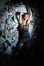 Sandra Morin Vikstroem model (modell). Photoshoot of model Sandra Morin Vikstroem demonstrating Fashion Modeling.Fashion Modeling Photo #92971