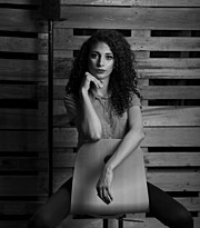 Sara Hazem El Amin model. Modeling work by model Sara Hazem El Amin.Egyptian face sitting on a chair we were just having fun Photo #176455