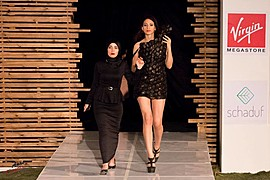 Sara Hazem El Amin model. Photoshoot of model Sara Hazem El Amin demonstrating Runway Modeling.Me on Stage at Fashion ClashRunway Modeling Photo #176456