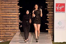 Sara Hazem El Amin model. Photoshoot of model Sara Hazem El Amin demonstrating Runway Modeling.Me on Stage at Fashion ClashRunway Modeling Photo #176456