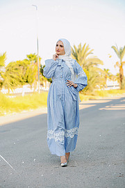 Egyptian modest fashion blogger based in Egypt. Professional Fashion Model Met frequently with potential clients to represent new design, cl