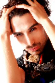 Sarhan Khan model & actor. Photoshoot of model Sarhan Khan demonstrating Face Modeling.Face Modeling Photo #222217