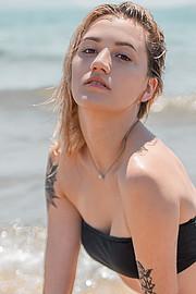 Savina Dimitropoulou model (μοντέλο). Photoshoot of model Savina Dimitropoulou demonstrating Face Modeling.Face Modeling Photo #226564