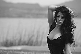 Sharin Mason Lavey model (modella). Photoshoot of model Sharin Mason Lavey demonstrating Face Modeling.Face Modeling Photo #92590
