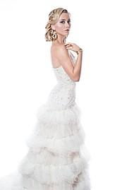 Sherie Marie Wilcox beauty therapist & model. Photoshoot of model Sherie Marie Wilcox demonstrating Fashion Modeling.Earrings,Wedding GownFashion Modeling Photo #92834