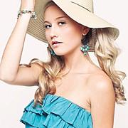 Sherie Marie Wilcox beauty therapist & model. Photoshoot of model Sherie Marie Wilcox demonstrating Face Modeling.Earrings,BraceletFace Modeling Photo #92864