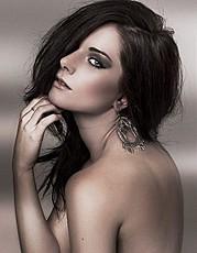 Sky Seraphin model. Photoshoot of model Sky Seraphin demonstrating Face Modeling.Face Modeling Photo #71449