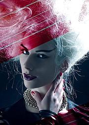 Sky Seraphin model. Photoshoot of model Sky Seraphin demonstrating Face Modeling.Face Modeling Photo #71451