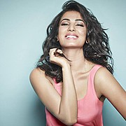 Sonal Chauhan model & actress. Photoshoot of model Sonal Chauhan demonstrating Face Modeling.Face Modeling Photo #122997