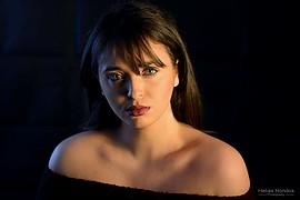 Souela Imai model (μοντέλο). Photoshoot of model Souela Imai demonstrating Face Modeling.Face Modeling Photo #207857