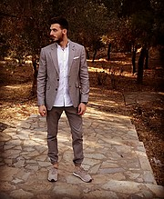 Spiros Giannakakis model (μοντέλο). Photoshoot of model Spiros Giannakakis demonstrating Fashion Modeling.Fashion Modeling Photo #212669