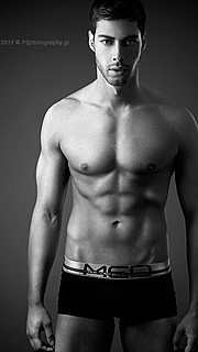 Spyros Papakonstantinou model (μοντέλο). Photoshoot of model Spyros Papakonstantinou demonstrating Body Modeling.Body Modeling Photo #178793