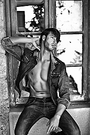 Spyros Papakonstantinou model (μοντέλο). Photoshoot of model Spyros Papakonstantinou demonstrating Fashion Modeling.for Celebrity Skin / Dimitris StreptkosFashion Modeling Photo #119740