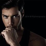 Spyros Papakonstantinou model (μοντέλο). Photoshoot of model Spyros Papakonstantinou demonstrating Face Modeling.Face Modeling Photo #119790