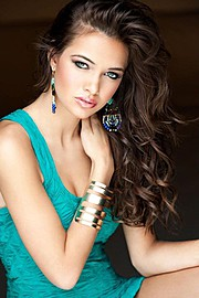 Stacey Martonen model. Photoshoot of model Stacey Martonen demonstrating Face Modeling.Earrings,BraceletFace Modeling Photo #71536