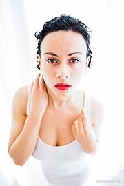 Stasy Platova model (Анастасия Платонова модель). Photoshoot of model Stasy Platova demonstrating Face Modeling.Face Modeling Photo #104076