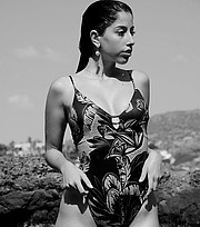 Stella Kouvatsou model (μοντέλο). Photoshoot of model Stella Kouvatsou demonstrating Body Modeling.Body Modeling Photo #230290
