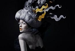 Steph Rai model & actress. Photoshoot of model Steph Rai demonstrating Face Modeling.Hair Stylist zoe boysenFace Modeling Photo #109649