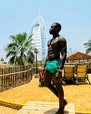 I am Stephane, a model from the republic of Benin who lives in Dubai. I am a passionate of sports and very much into cinema. Find me on inst