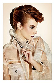 Sunnie Brook hair stylist & blogger. Work by hair stylist Sunnie Brook demonstrating Fashion Hair Styling.Fashion Hair Styling Photo #64301