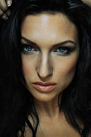 Susanna Andersen model. Photoshoot of model Susanna Andersen demonstrating Face Modeling.Face Modeling Photo #98466