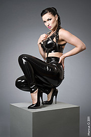 Susanna Andersen model. Susanna Andersen demonstrating Fashion Modeling, in a photoshoot by Marcus Gunnarsson.Photographer: Marcus GunnarssonDesigner: Westward Bound LatexFashion Modeling Photo #98468