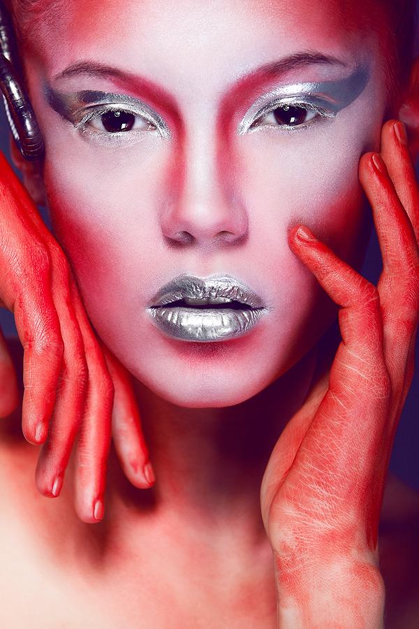 Portrait Photography Face Closeup Face Painting Photo