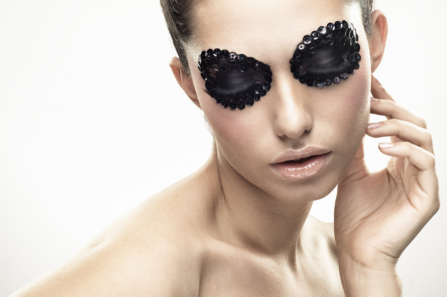 Taisia Shuyskaya makeup artist (Таисия Шуйская визажист). Work by makeup artist Taisia Shuyskaya demonstrating Creative Makeup.Eyebrow ExtensionsCreative Makeup Photo #57587