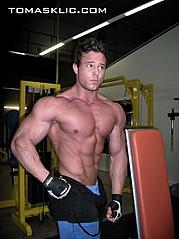 Tomas Klic (Tomáš Klíč) fitness model. Photoshoot of model Tomas Klic demonstrating Body Modeling.Body Modeling Photo #92707