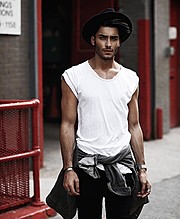 Toni Mahfud model & artist. Photoshoot of model Toni Mahfud demonstrating Fashion Modeling.Fashion Modeling Photo #172849
