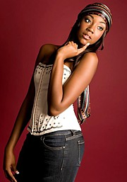 Tricia Jean Baptiste model. Photoshoot of model Tricia Jean Baptiste demonstrating Face Modeling.Face Modeling Photo #102634